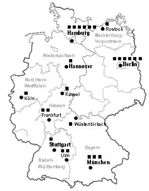 Karte Autonome Frauenwohnprojekte